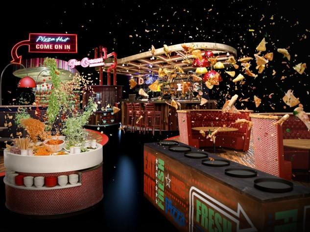 Is Pizza Hut Open On Christmas.Unlimited Evening Buffet At Pizza Hut For Christmas Lights