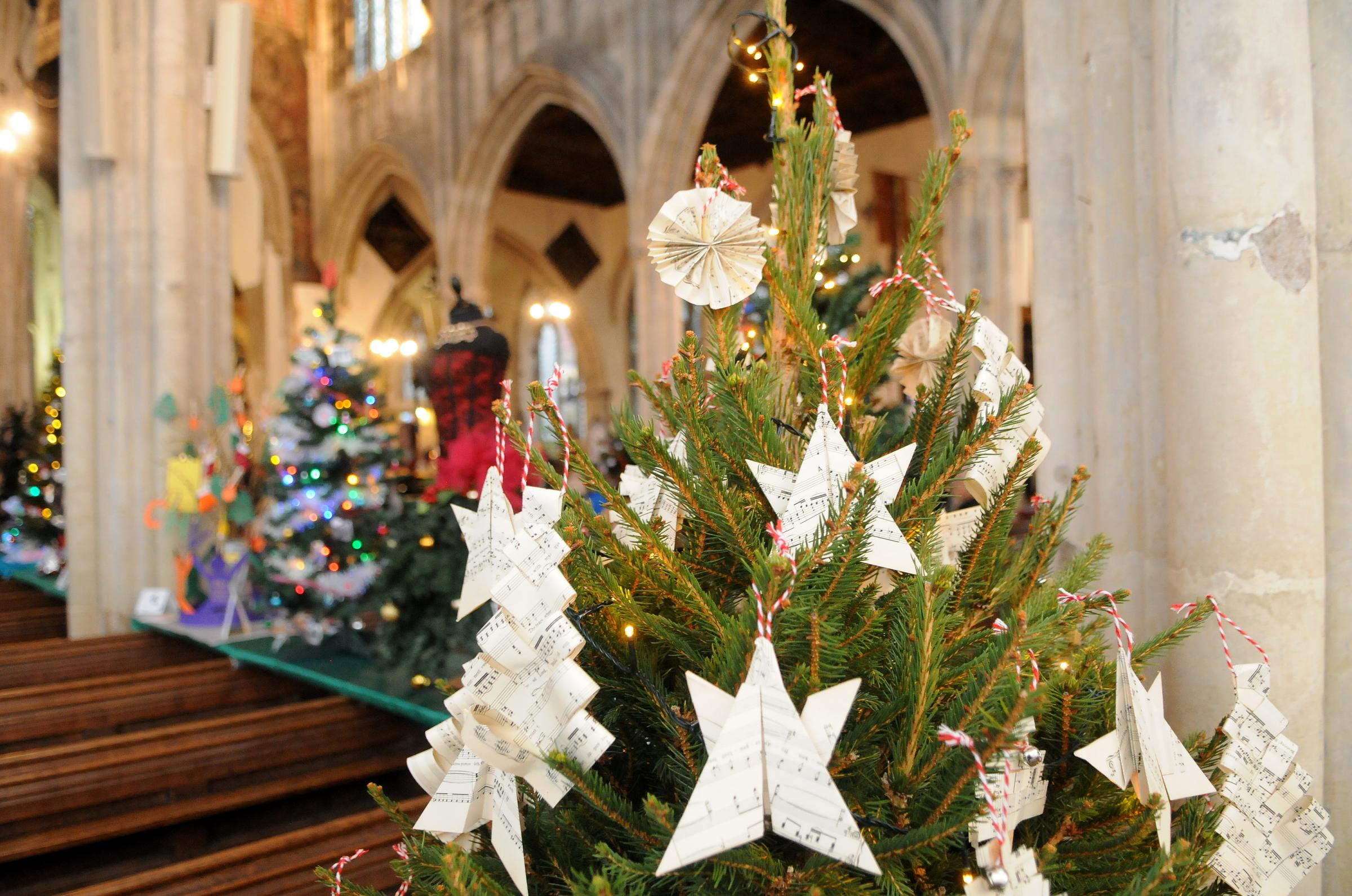 A Musical Christmas by Coombe Bissett Primary School..St Thomas's Church Christmas Tree Festival DC8915P30 Picture by Tom Gregory.