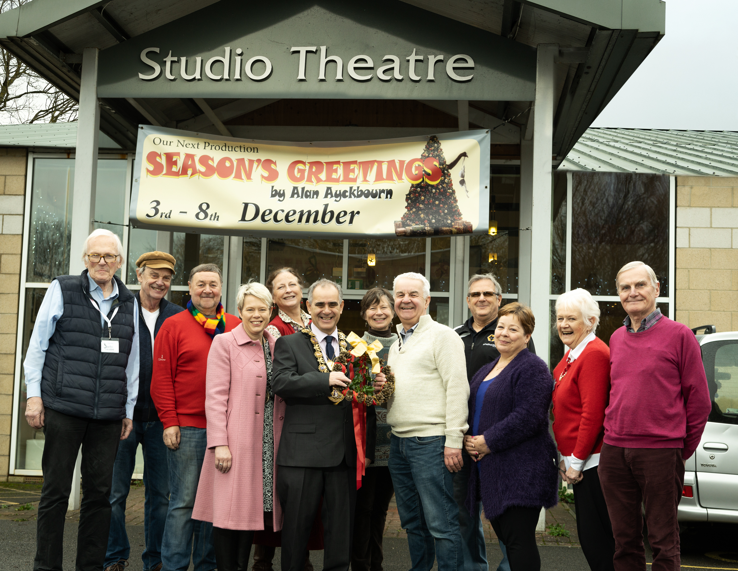 Topping out celebrations at Studio Theatre's new extension Picture: Trinity Photography