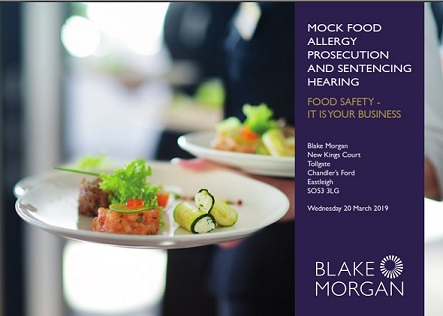 Food Allergy Prosecution – Mock Trial for Food Service