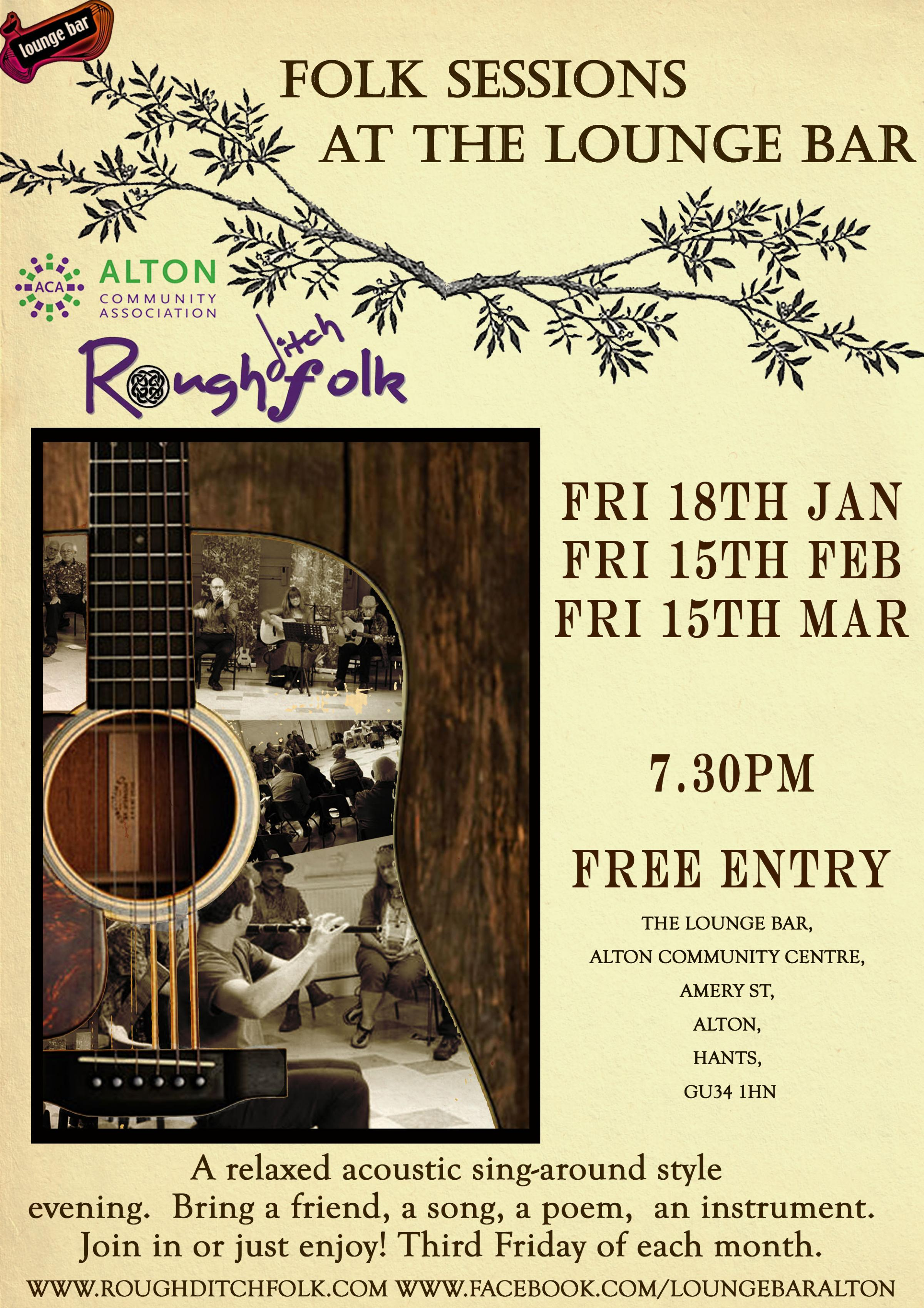Free Folk Friday at The Lounge Bar, Alton