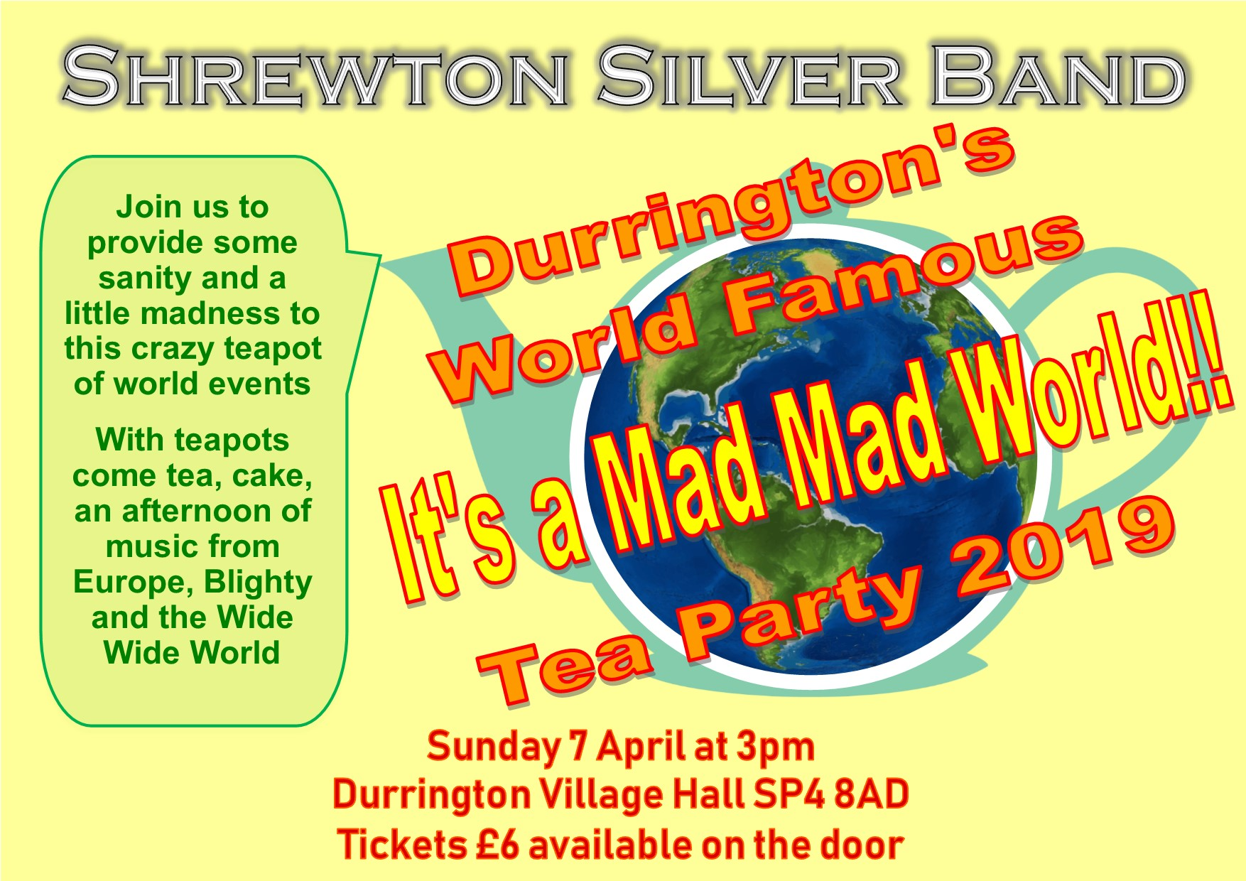 Durrington's World Famous It's a Mad Mad World!! Tea Party 2019