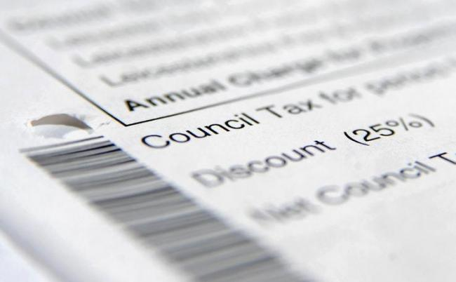 Council tax form stock picture