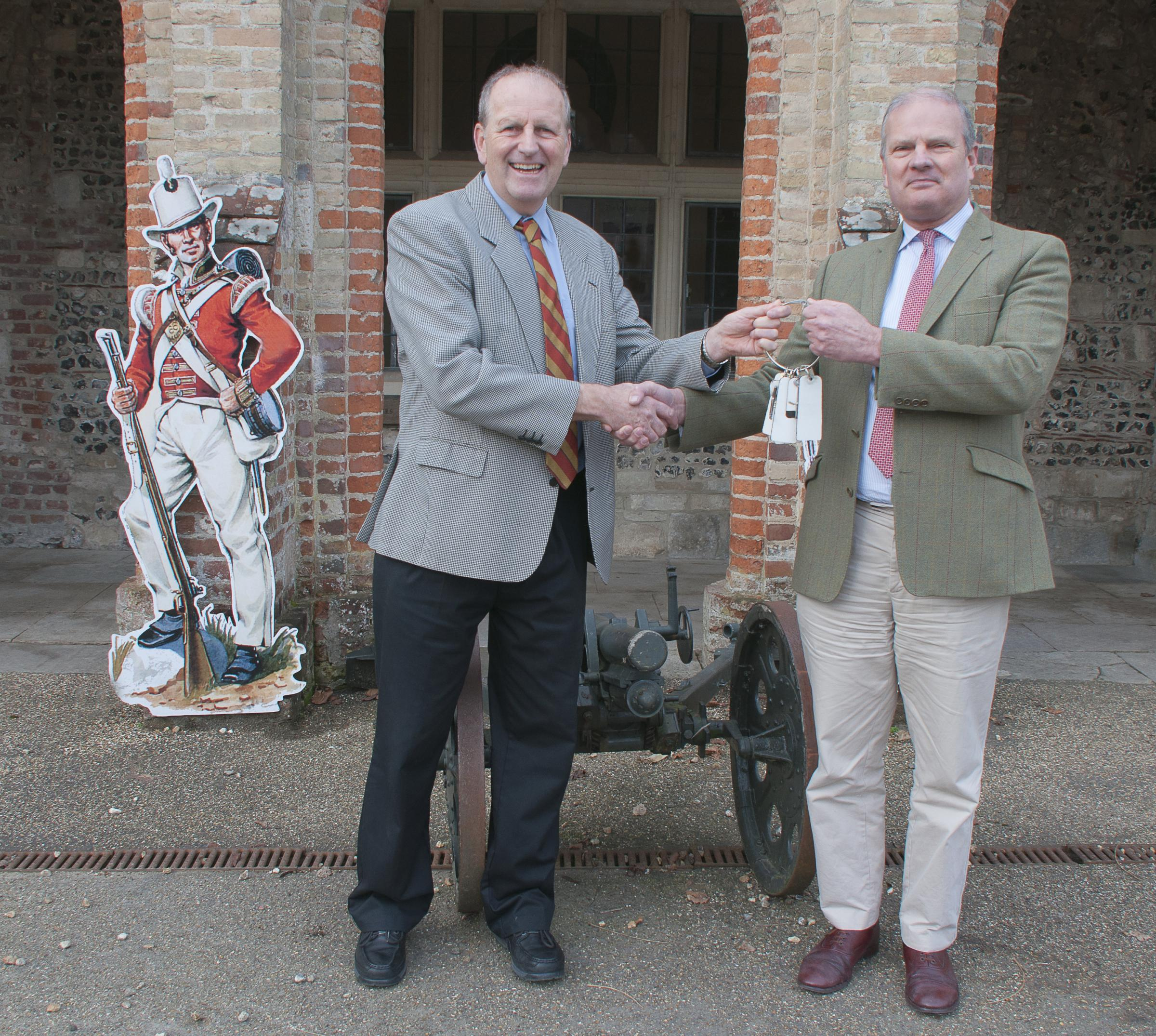 Ceremony of the Keys - Simon Cook (left) is seen handing the keys over to Tony Field