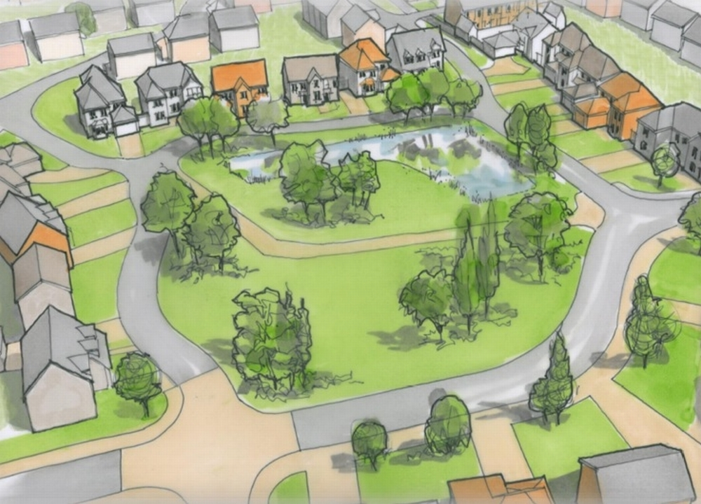Artwork sketch for the proposed development off Snails Lane. Picture: Gladman Developments