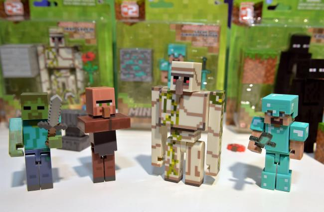 Minecraft Figures Picture: John Stillwell/PA Wire