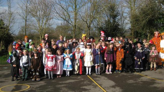A previous World Book Day at St Thomas A Becket School in Tilshead
