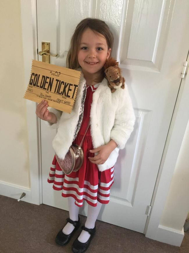 Annabelle Donohue age 5 as Veruca Salt from Charlie and the Chocolate Factory