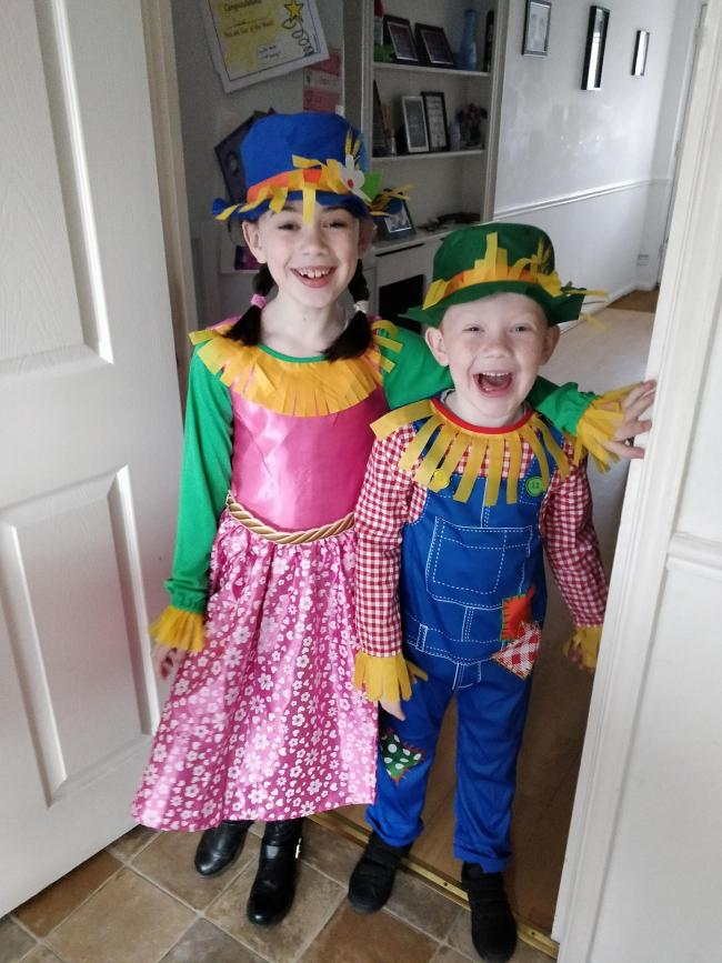 Lily (8) and Conor (6) as the Scarecrows wedding