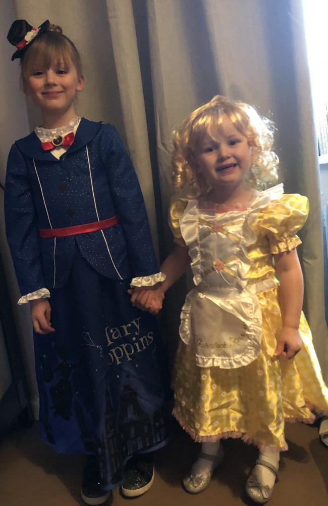 World book day 2019   Lola-Faith Kington aged 6 dressed as Mary Poppins.  Skyla-Rose Kington aged 3 dressed as Goldie Locks.