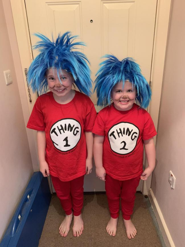 Thing 1 & Thing 2 for world book day 2019