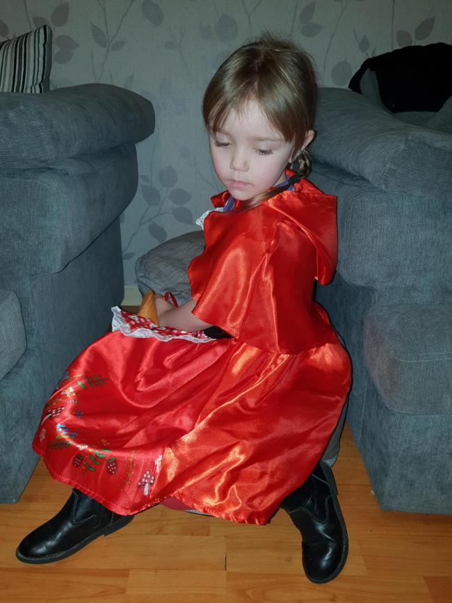 Little red riding hood for world book day x Amber aged 4