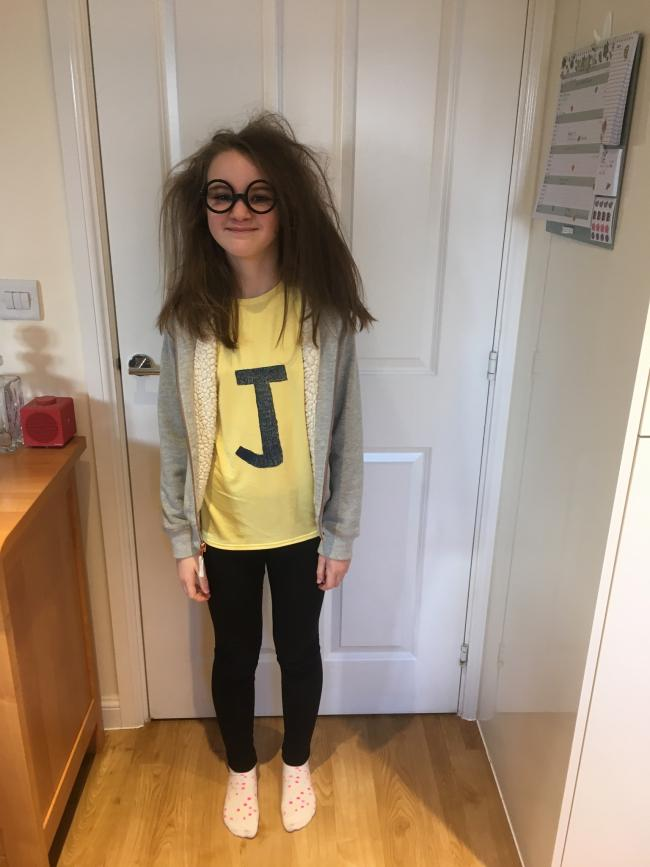 "Emily Dudgeon (age 10) dressed as Jessica Beaker from Jacqueline Wilson's ""My Mum Tracy Beaker""."