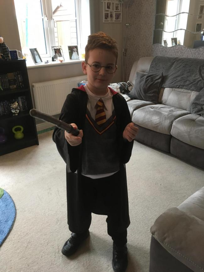 Our son Ryan,8, dressed up as Harry Potter
