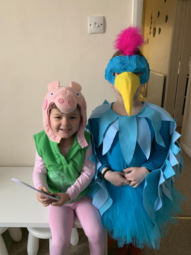 The Roly Poly Bird and George Pig