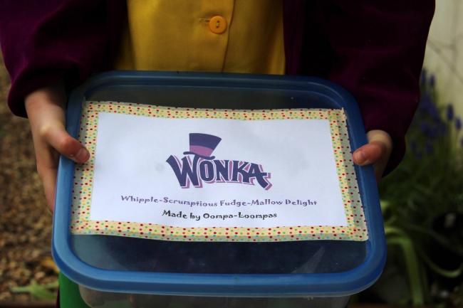 Ted, age 6, as Willy Wonka. He also made Whipple-Scrumptious Fudge-Mallow Delights for his classmates!