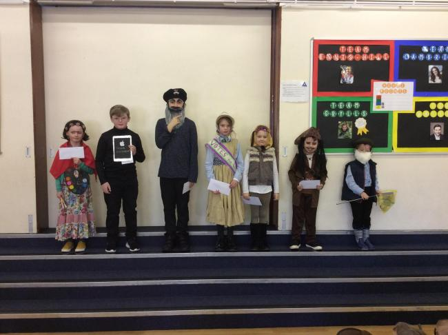 The winners of Sarum St Paul's World Book Day competition.
