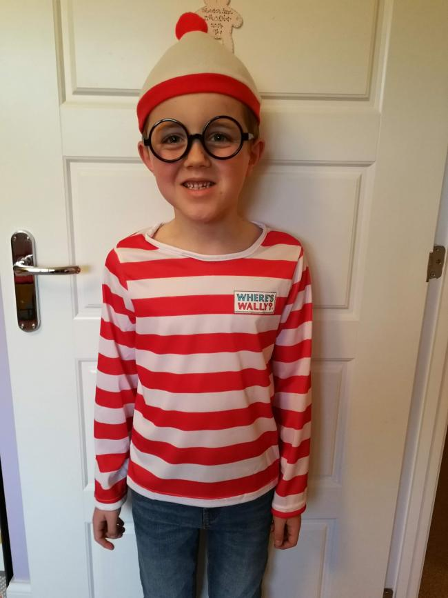 Matthew aged 7 as Wally from Where's Wally Jessica aged 4 as Elmer the Elephant