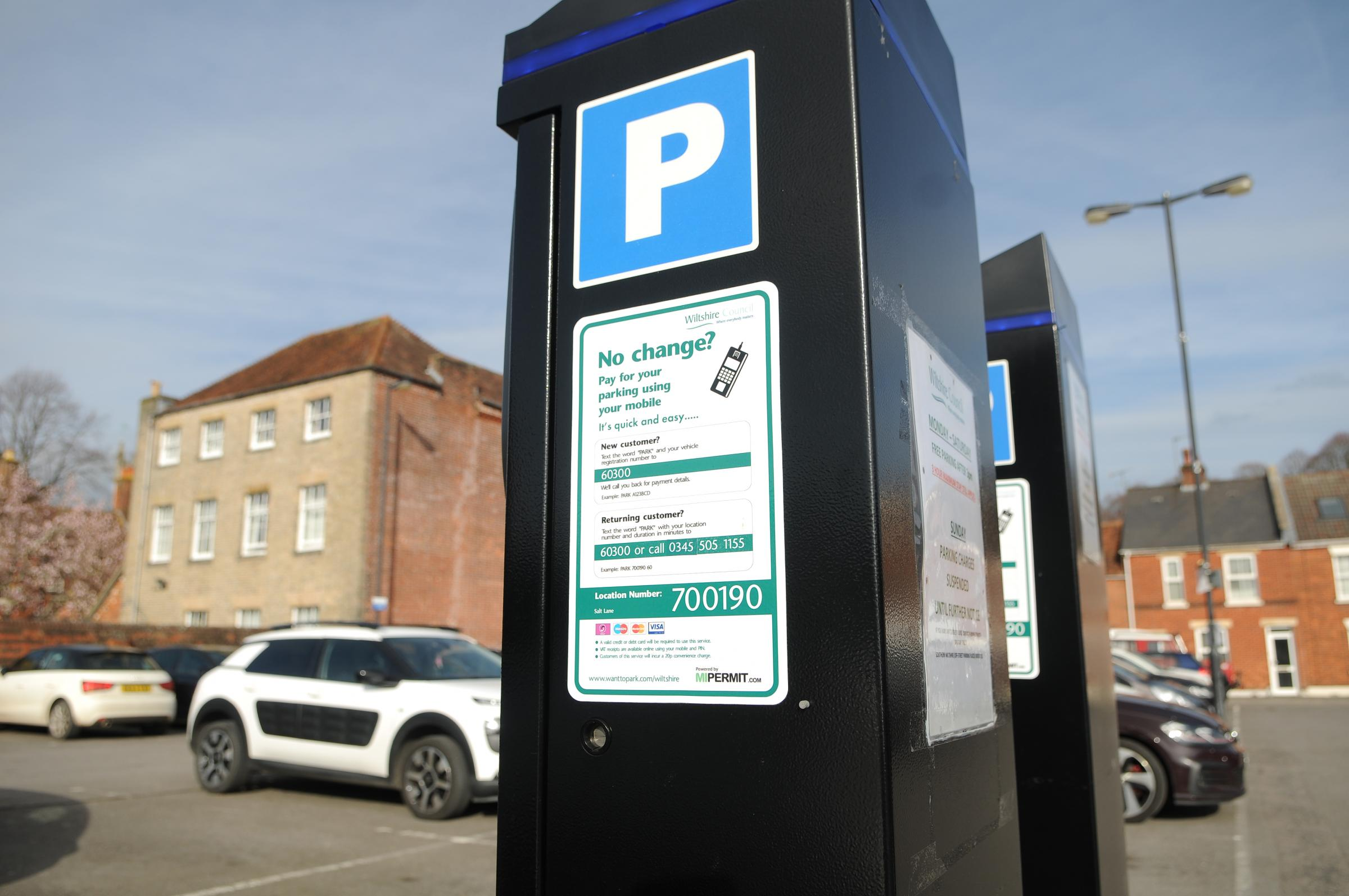 Parking meter in Salt Lane car park, Salisbury DC9031P1 Picture by Tom Gregory.