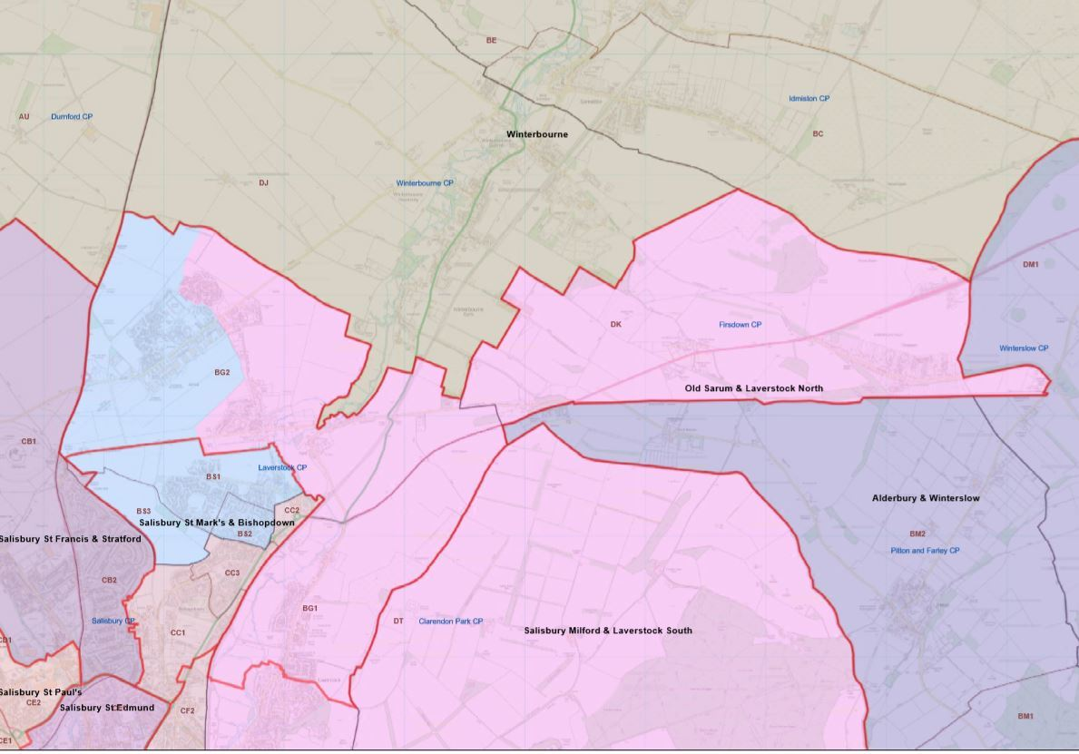 Plans for new parish boundary divisions which have been rejected by Salisbury and Laverstock councils