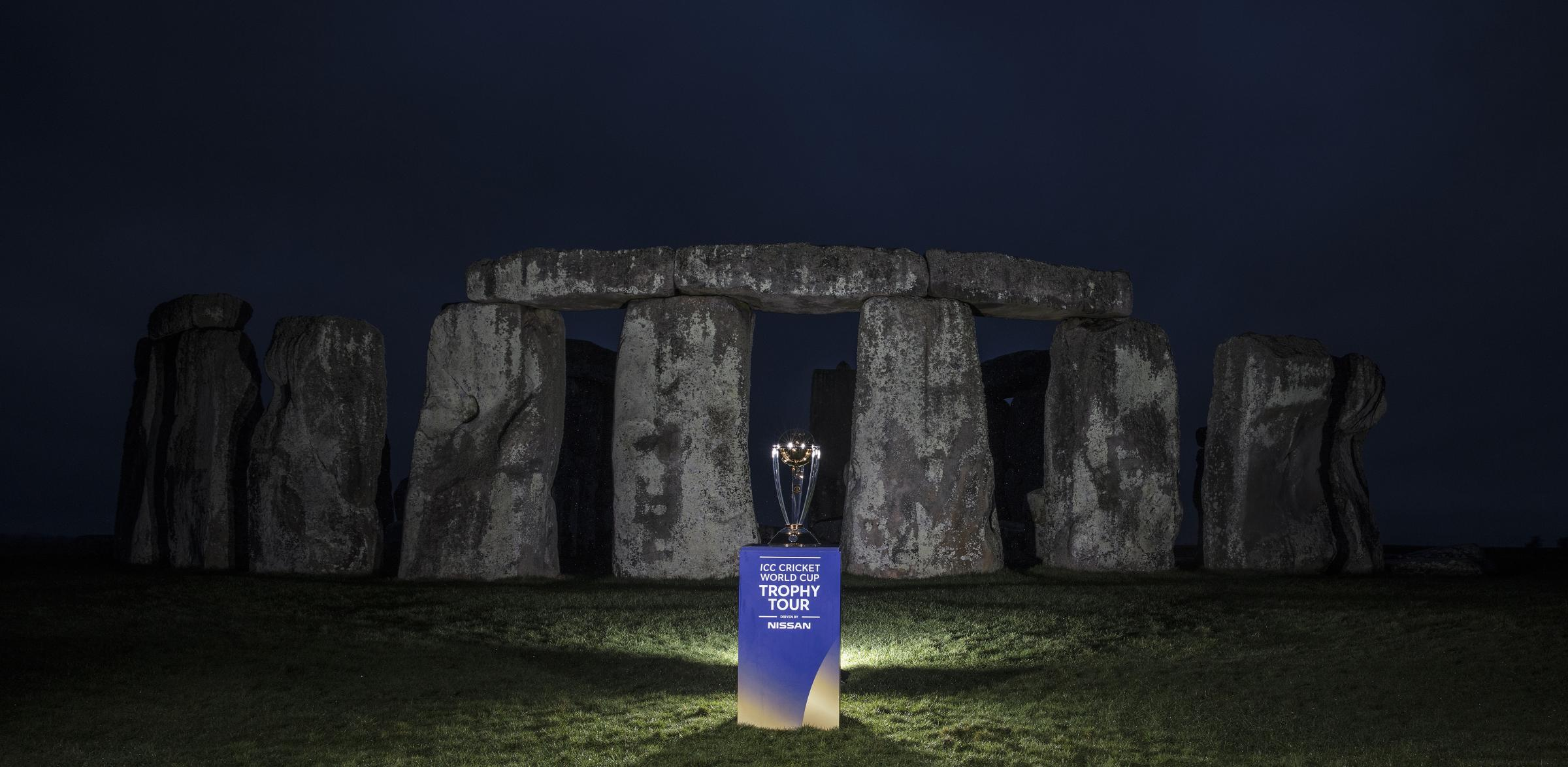 Cricket World Cup 2019 Trophy at Stonehenge. Picture: Phil Mingo/PPAUK