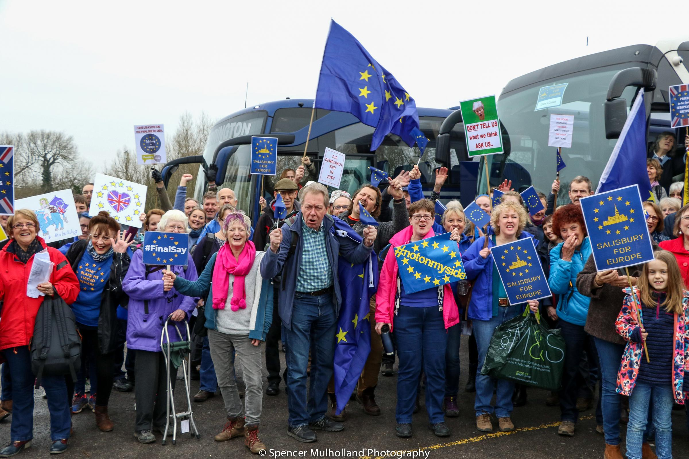 Salisbury and Tisbury join People's Vote for Brexit march London