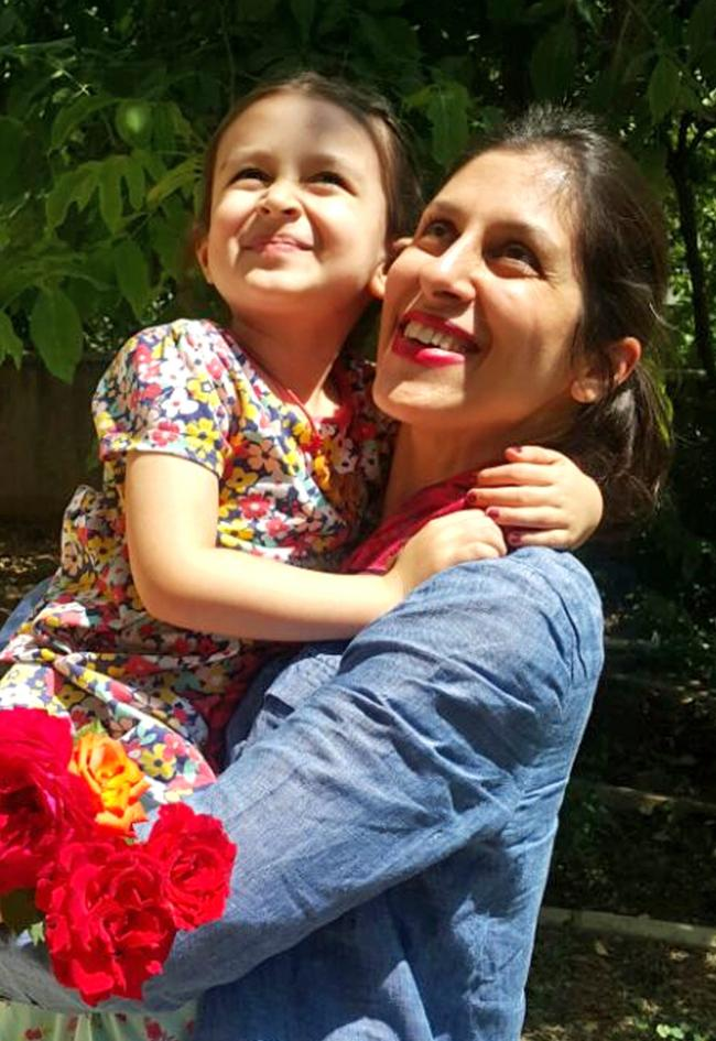 Handout file photo dated 23/08/18 of Nazanin Zaghari-Ratcliffe with her daughter Gabriella. Foreign Secretary Jeremy Hunt has said the return of imprisoned Mrs Zaghari-Ratcliffe to the UK would be the best Christmas present for her and the country. PRESS