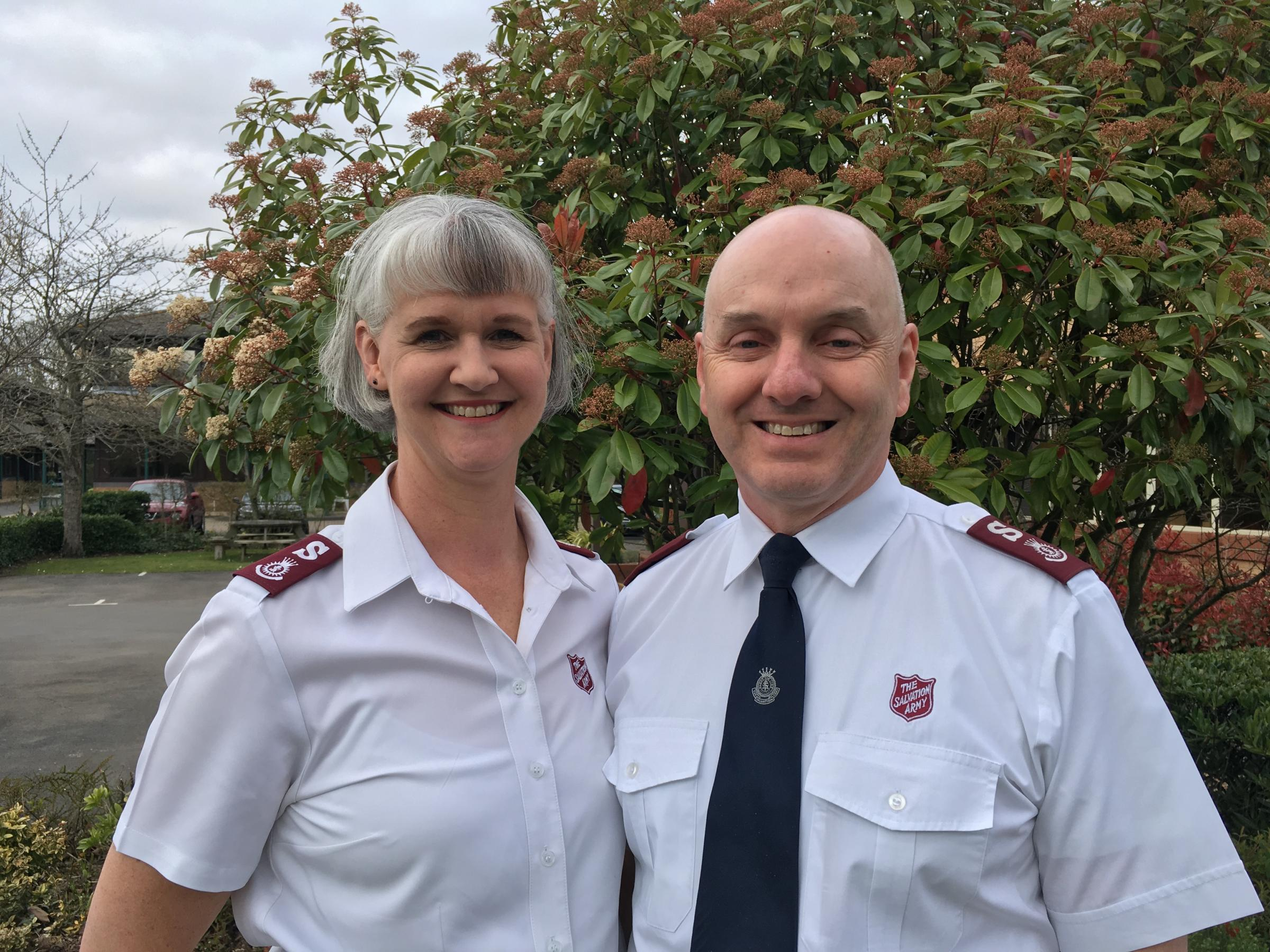 Major Gregory and Major Priya Morgan - The Salvation Army's new southern division heads