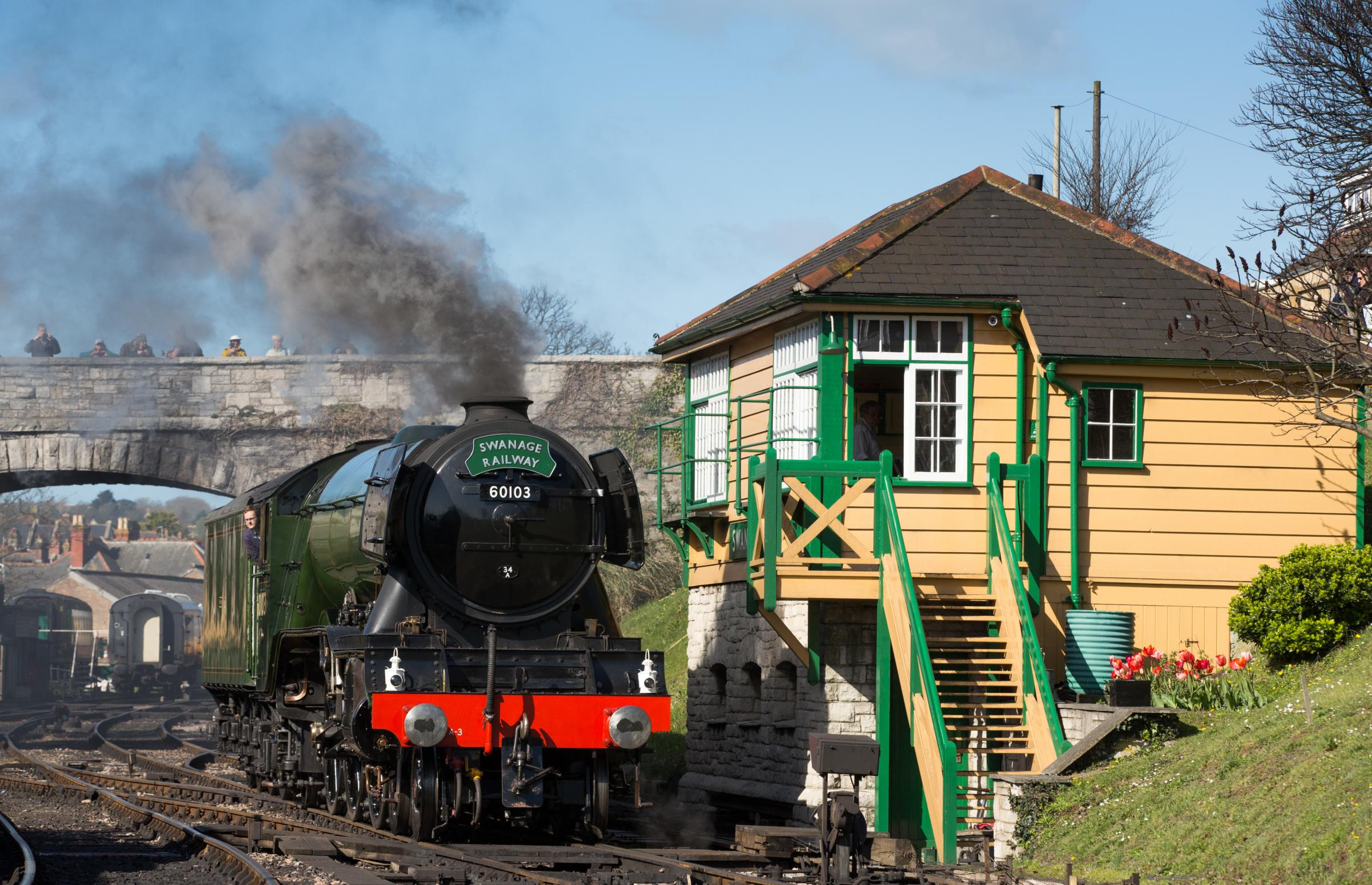 The Flying Scotsman at Swanage Railway.