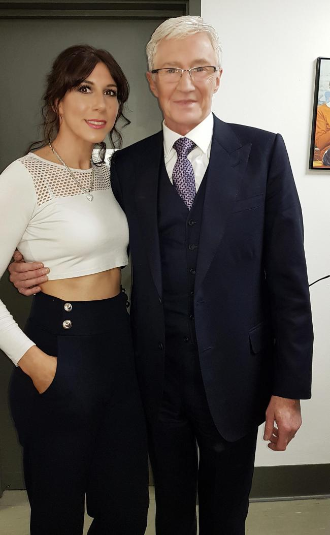 Sarah Gold with Paul O'Grady