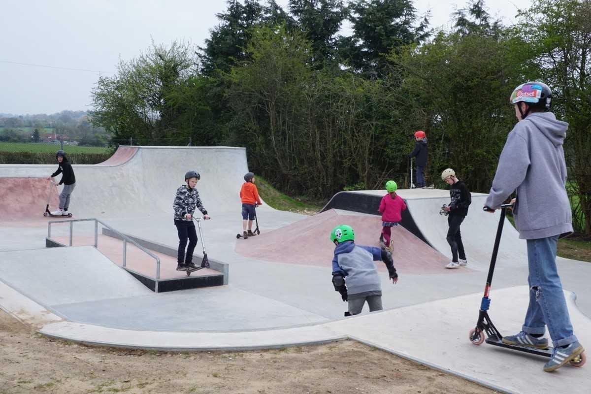 Skatejam first event at Whiteparish skatepark with ATBShop