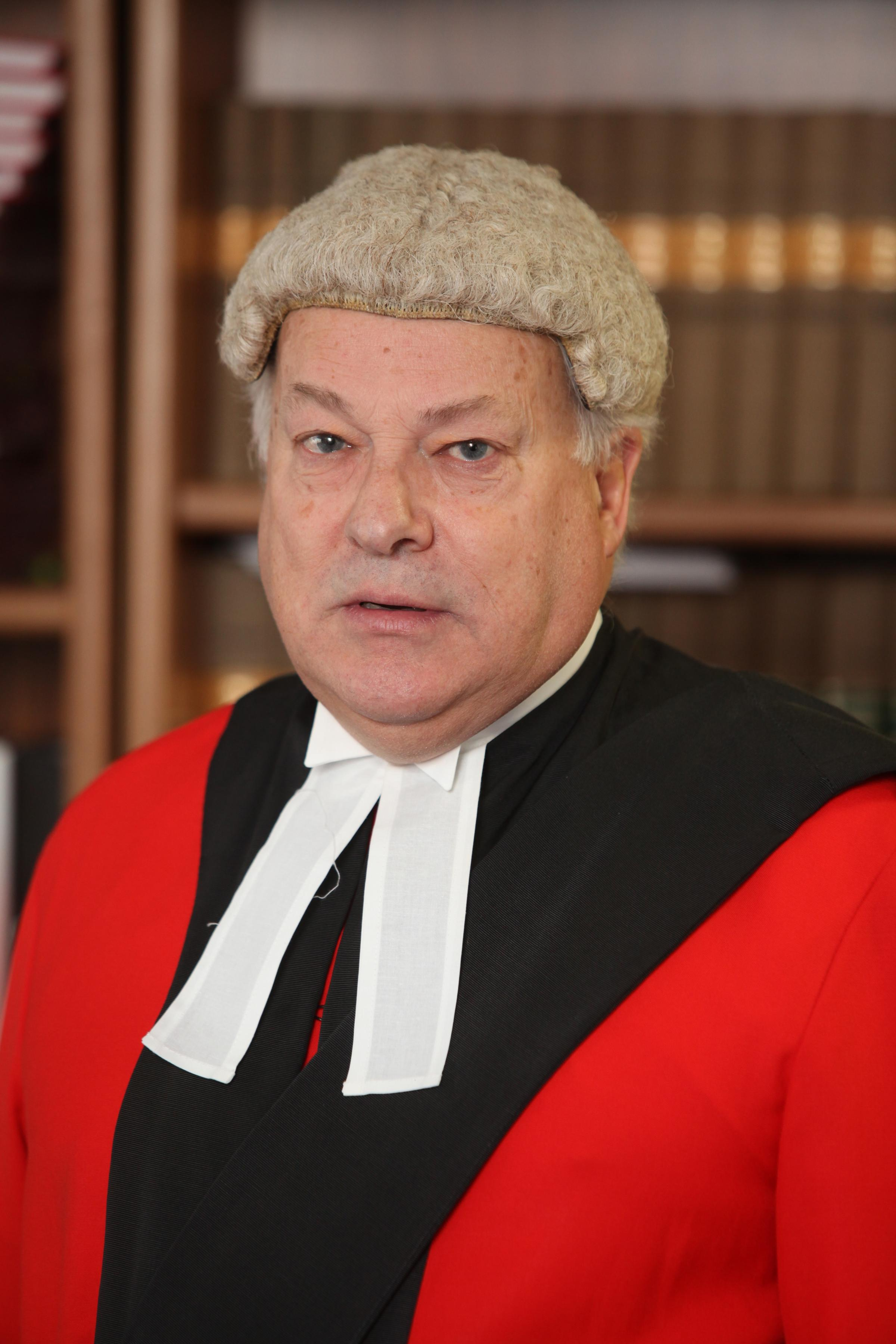 18 March 2015 - Red Judge, Judge Keith Cutler the top judge at Winchester Crown Court.