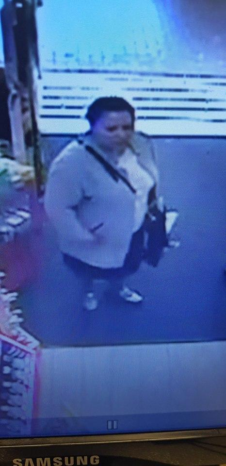 Police are looking to speak to this woman after a stolen bank card was used to buy perfume