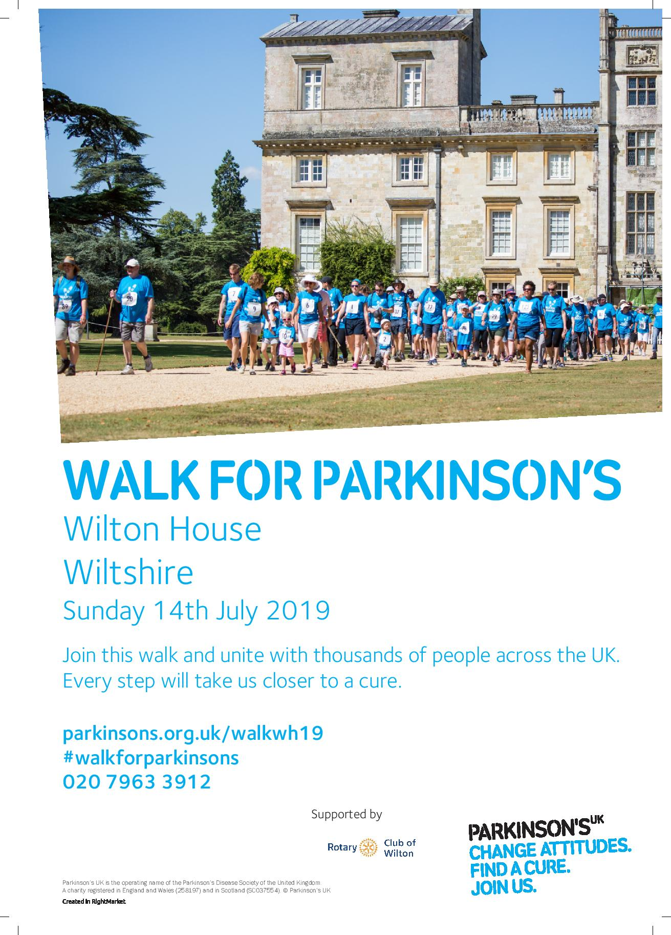 Walk for Parkinson's Wilton House