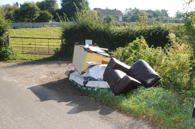 Fly-tip in West Grimstead last yearDC8798P8 Picture by Tom Gregory.