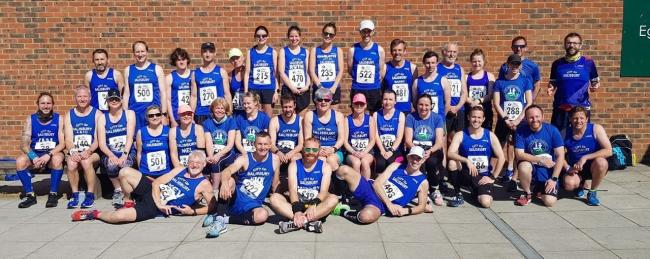 Sea of Blue at Alton 10K