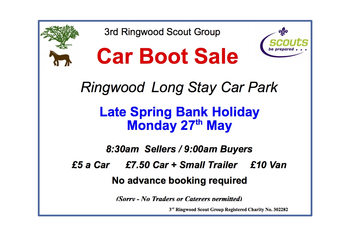 3rd Ringwood Scout Group Car Boot Sale