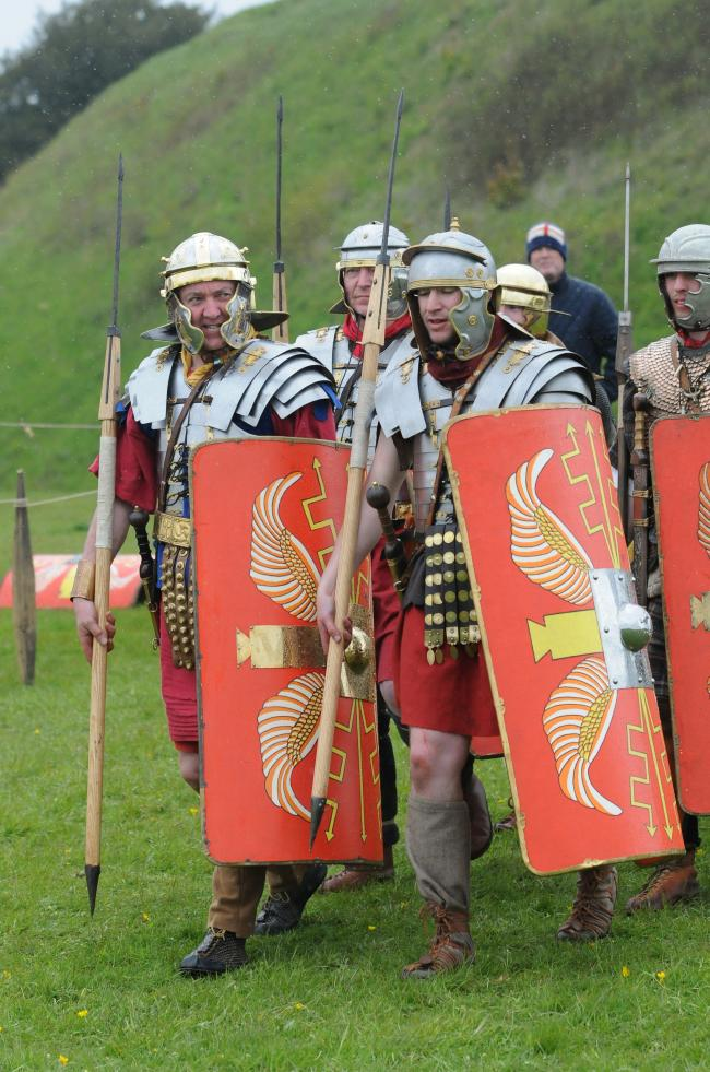 The Romans at Old Sarum Castle                                            DC7631P12  Picture by Tom Gregory