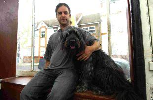 Salisbury Journal: Marc Harrison and his dog, Mitchell