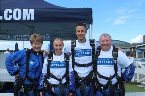 Volunteers brave a commemorative skydive for D-Day and Alabare