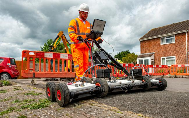 Openreach radar technology. Broadband upgrade in Salisbury